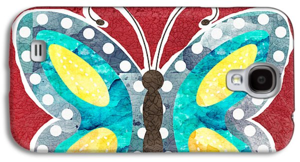 Butterfly Liberty Galaxy S4 Case by Linda Woods