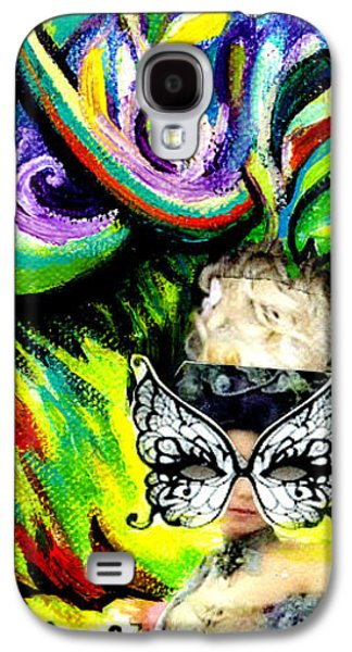 Colorful Abstract Galaxy S4 Cases - Butterfly Masquerade Galaxy S4 Case by Genevieve Esson