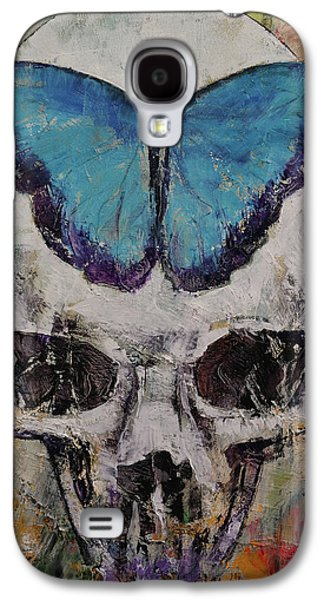 Butterfly Skull Galaxy S4 Case by Michael Creese