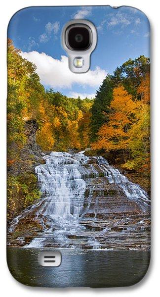 Ithaca Galaxy S4 Cases - Buttermilk Falls 2 Galaxy S4 Case by Mark Papke
