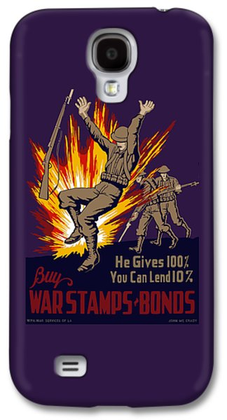 Buy Digital Galaxy S4 Cases - Buy War Stamps And Bonds Galaxy S4 Case by War Is Hell Store