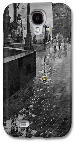 Cityscape Digital Galaxy S4 Cases - BW Prague Charles Bridge 01 Galaxy S4 Case by Yuriy  Shevchuk