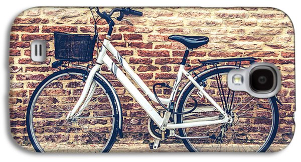 Bycicle Urban Canvas Red Brick Wall Prints Galaxy S4 Case by Luca Lorenzelli