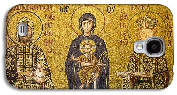 Orthodox Icon Galaxy S4 Cases - Byzantine Mosaic in Hagia Sophia Galaxy S4 Case by Artur Bogacki