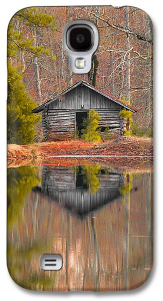 Landscapes Photographs Galaxy S4 Cases - Cabin by the Lake Vertical Galaxy S4 Case by Shelby  Young