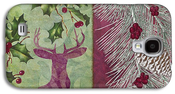 Christmas Art Galaxy S4 Cases - Cabin Christmas I Galaxy S4 Case by Mindy Sommers