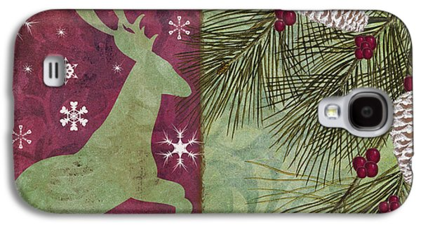 Christmas Art Galaxy S4 Cases - Cabin Christmas II Galaxy S4 Case by Mindy Sommers