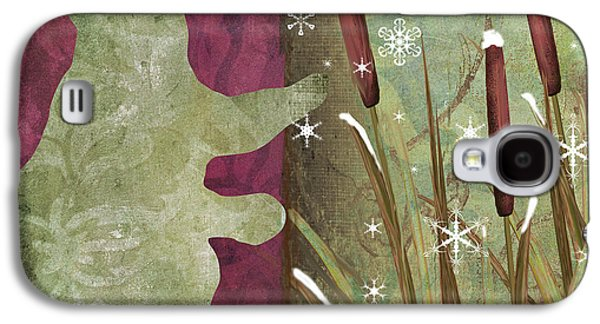 Christmas Art Galaxy S4 Cases - Cabin Christmas III Galaxy S4 Case by Mindy Sommers