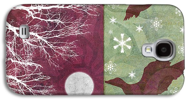 Christmas Art Galaxy S4 Cases - Cabin Christmas IV Galaxy S4 Case by Mindy Sommers