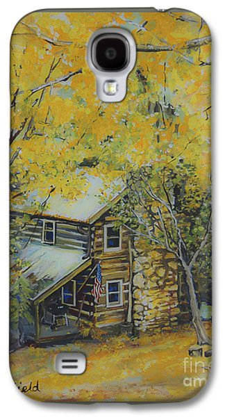 Smokey Mountains Paintings Galaxy S4 Cases - Cabin in the woods Galaxy S4 Case by Johnnie Stanfield