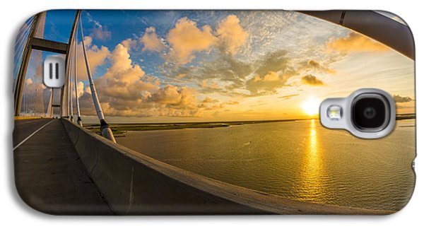 Island Stays Galaxy S4 Cases - Cables Bend at Sunset Galaxy S4 Case by Chris Bordeleau