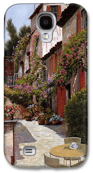 Chair Galaxy S4 Cases - Cafe Bifo Galaxy S4 Case by Guido Borelli