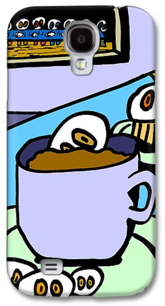 Last Supper Galaxy S4 Cases - Cafe Cronkle Galaxy S4 Case by Jera Sky