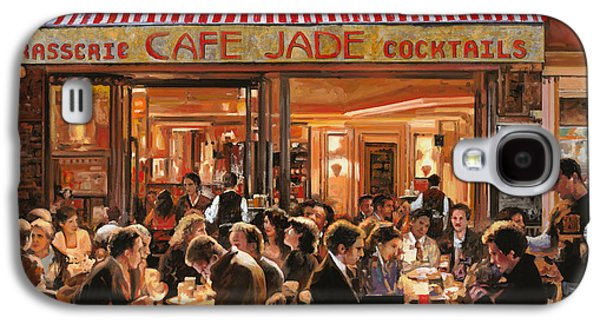 Table Wine Galaxy S4 Cases - Cafe Jade Galaxy S4 Case by Guido Borelli