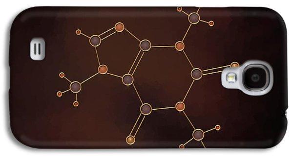 Caffeine Molecule Galaxy S4 Case by Pet Serrano
