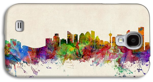 City Digital Art Galaxy S4 Cases - Calgary Skyline Galaxy S4 Case by Michael Tompsett