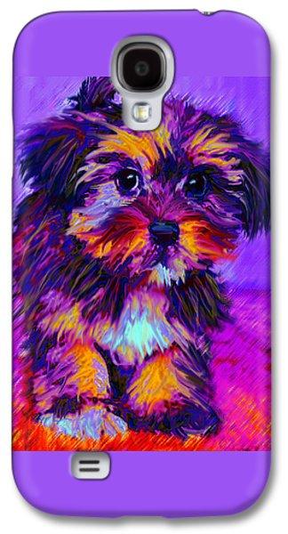 Calico Dog Galaxy S4 Case by Jane Schnetlage