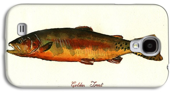 California Golden Trout Fish Galaxy S4 Case by Juan  Bosco