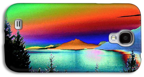 Abstract Digital Galaxy S4 Cases - Call Of The Coast 2 Galaxy S4 Case by Will Borden