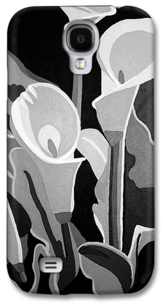 Calla Lilly Galaxy S4 Cases - Calla Lilies BW Galaxy S4 Case by Angelina Vick
