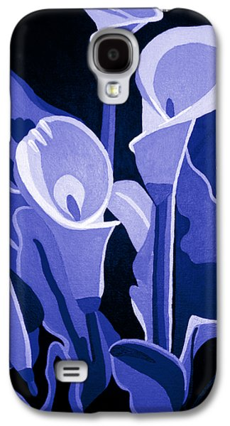 Calla Lilly Galaxy S4 Cases - Calla Lilies Royal Galaxy S4 Case by Angelina Vick