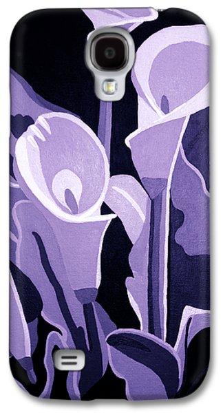 Calla Lilly Galaxy S4 Cases - Calla Lillies Lavender Galaxy S4 Case by Angelina Vick