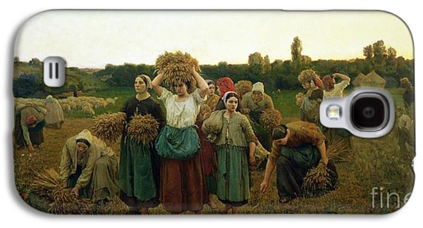 Pasture Scenes Galaxy S4 Cases - Calling in the Gleaners Galaxy S4 Case by Jules Breton