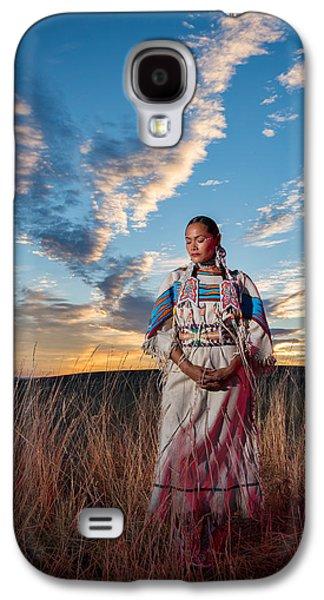 Native American Spirit Portrait Galaxy S4 Cases - Calling the spirit Galaxy S4 Case by Christian Heeb