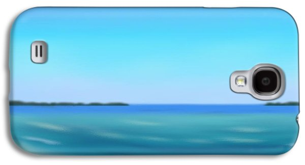 Abstract Seascape Pastels Galaxy S4 Cases - Calm Ocean Galaxy S4 Case by Jerod Roberts