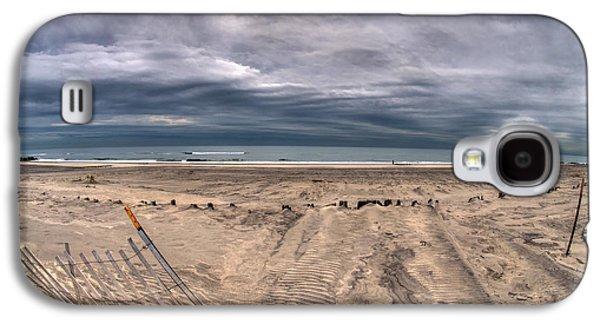 Beach Landscape Galaxy S4 Cases - Calm Ocean Violent Clouds Galaxy S4 Case by Mike  Deutsch