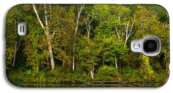 Trees Reflecting In Water Galaxy S4 Cases - Calming Trees Galaxy S4 Case by Karol  Livote