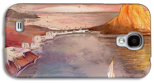 Sea Galaxy S4 Cases - Calpe at Sunset Galaxy S4 Case by Miki De Goodaboom