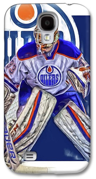 Cam Talbot Edmonton Oilers Oil Art Galaxy S4 Case by Joe Hamilton