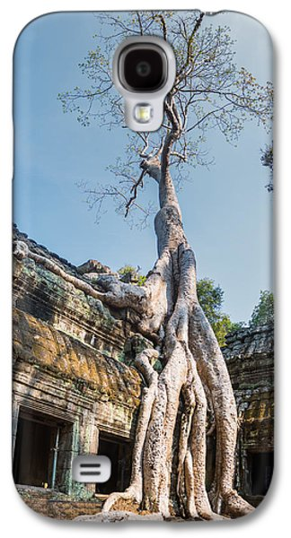 Cambodia Angkor Wat Tree Roots Galaxy S4 Case by Cory Dewald