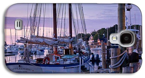 Mid-coast Maine Galaxy S4 Cases - Camden Windjammer Dawn Galaxy S4 Case by Susan Cole Kelly