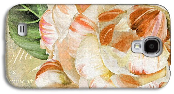 Stripes Paintings Galaxy S4 Cases - Camellia II Galaxy S4 Case by Mindy Sommers