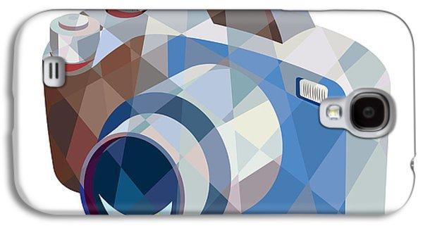 Camera Galaxy S4 Cases - Camera DSLR Low Polygon Galaxy S4 Case by Aloysius Patrimonio