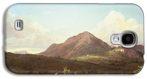 Camp Fire In The Maine Wilderness Galaxy S4 Case by Frederic Edwin Church