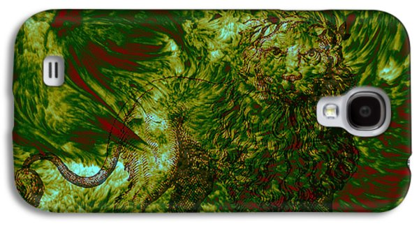 Fractal Pastels Galaxy S4 Cases - Can you see me Galaxy S4 Case by Evelyn Patrick