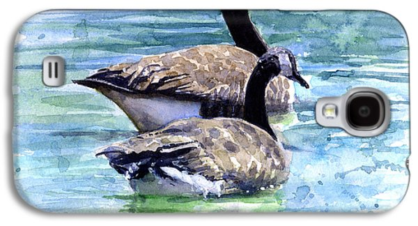 Water Fowl Galaxy S4 Cases - Canada Geese Galaxy S4 Case by John D Benson