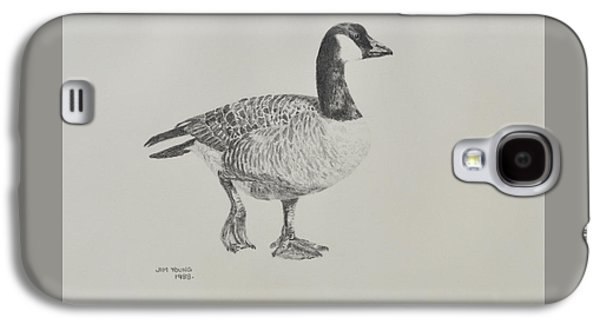 Drawing Galaxy S4 Cases - Canada Goose Galaxy S4 Case by Jim Young