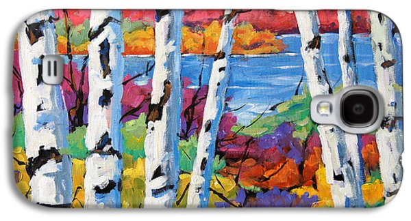 Canadiens Paintings Galaxy S4 Cases - Canadian Birches by Prankearts Galaxy S4 Case by Richard T Pranke