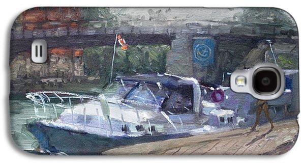 Boats In Harbor Galaxy S4 Cases - Canadian Yacht at Tonawanda Harbor Galaxy S4 Case by Ylli Haruni