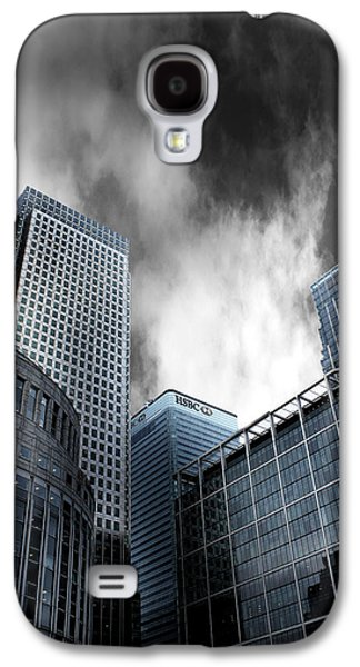Grey Clouds Galaxy S4 Cases - Canary Wharf Galaxy S4 Case by Martin Newman