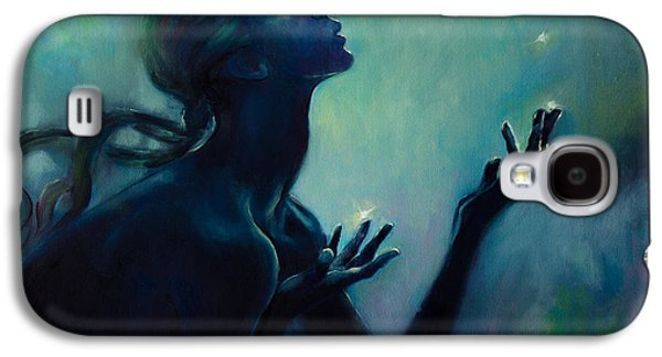 Constellations Paintings Galaxy S4 Cases - Cancer Zodiac Sign Galaxy S4 Case by Dorina  Costras