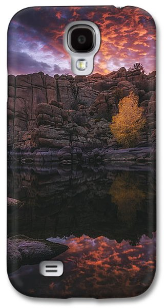 Watson Lake Galaxy S4 Cases - Candle Lit Lake Galaxy S4 Case by Peter Coskun