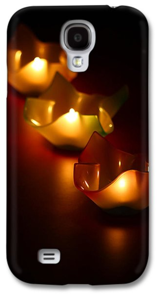 Blurred Galaxy S4 Cases - Candleworks Galaxy S4 Case by Evelina Kremsdorf