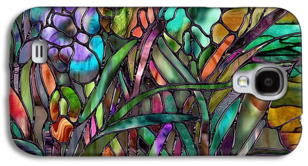 Depression Paintings Galaxy S4 Cases - Candy Coated Irises Galaxy S4 Case by Mindy Sommers