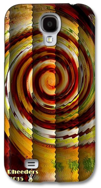 Abstract Digital Pastels Galaxy S4 Cases - Candy Swirl V a Galaxy S4 Case by Gert J Rheeders