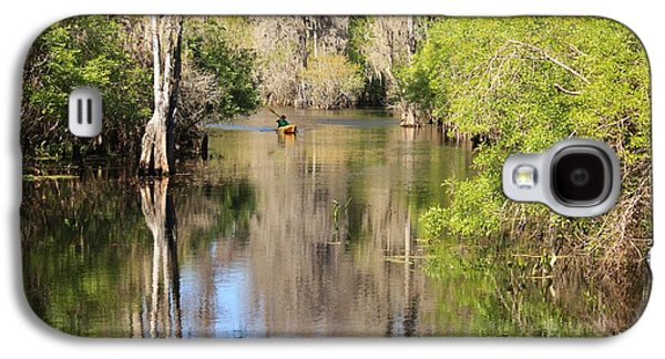 Canoeing Galaxy S4 Cases - Canoeing on the Hillsborough River Galaxy S4 Case by Carol Groenen